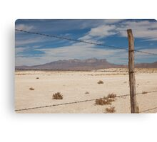 White Sands barbed wire Canvas Print