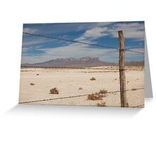 White Sands barbed wire Greeting Card