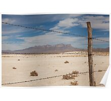 White Sands barbed wire Poster
