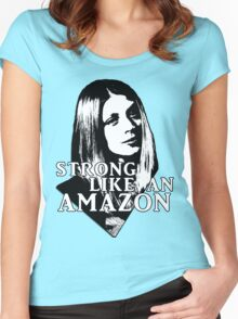 TARA MACLAY: Strong Like An Amazon Women's Fitted Scoop T-Shirt
