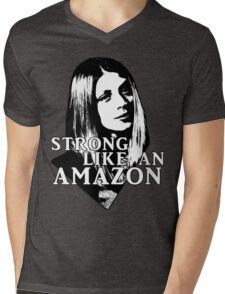 TARA MACLAY: Strong Like An Amazon Mens V-Neck T-Shirt