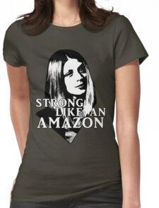 TARA MACLAY: Strong Like An Amazon Womens Fitted T-Shirt