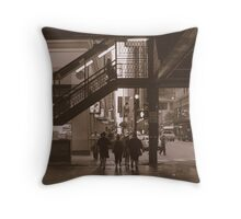 Under the Loop, Chicago Throw Pillow