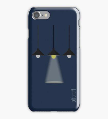 Lights off, lights on, lights off iPhone Case/Skin