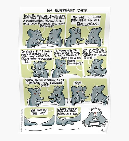 An Elephant Date Poster