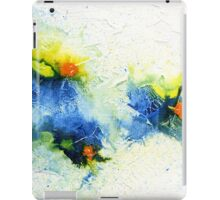 Yellow, blue and green abstract  iPad Case/Skin
