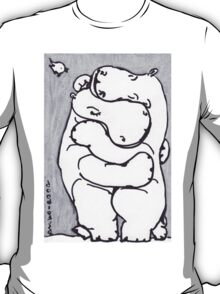 Hippo Hug - Original Drawing T-Shirt