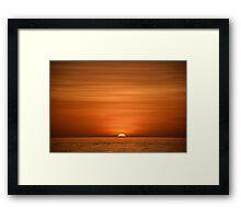 Floridian Sunset I Framed Print