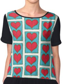 Hearts Chiffon Top