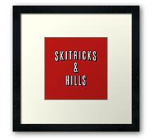 Ski Tricks and Hills Framed Print