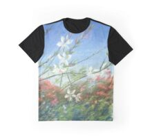 "Wildflowers blue horizon"" Pastel painting, Drawing Art Graphic T-Shirt"