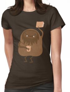 I read and drink coffee yeti Womens Fitted T-Shirt