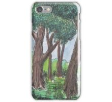 Crossroads in the forest iPhone Case/Skin