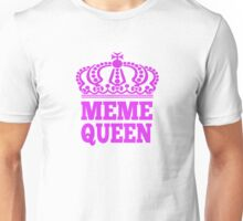 Meme Queen T Shirt with Pink Crown Unisex T-Shirt