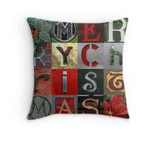 Merry Christmas Photo Collage Throw Pillow