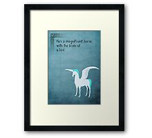 Hercules inspired design (Pegasus). Framed Print