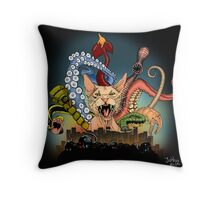 Cat with nine tails Throw Pillow