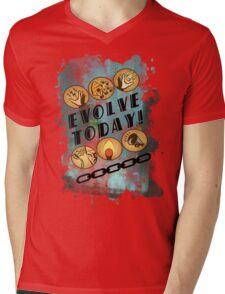 Evolve Today! (Splatter) Mens V-Neck T-Shirt