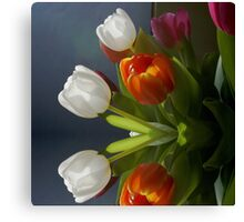 Mirrored Tulips Canvas Print