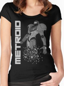 Turning to Zero (Greyscale) Women's Fitted Scoop T-Shirt