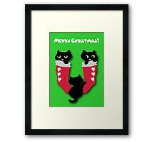 Three little kittens Framed Print