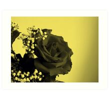 Charcoal and Yellow duo Art Print