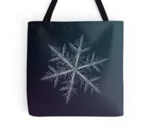 Neon, snowflake macro photo Tote Bag