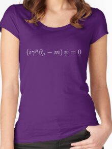 Dirac Equation - White Women's Fitted Scoop T-Shirt