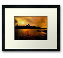 Amber Glow At Big Lake Framed Print