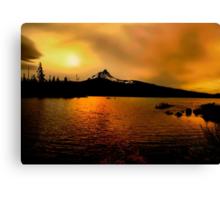 Amber Glow At Big Lake Canvas Print