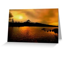 Amber Glow At Big Lake Greeting Card