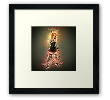 showgirl in lingerie and stockings  Framed Print