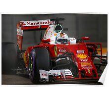 Ferrari Sebastian Vettel Poster