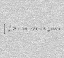 Schrodinger Equation - Black One Piece - Long Sleeve