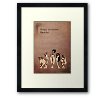 Hercules inspired design (The Muses). Framed Print