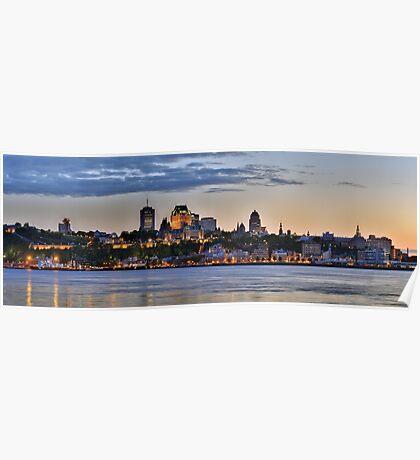 Quebec Skyline Poster