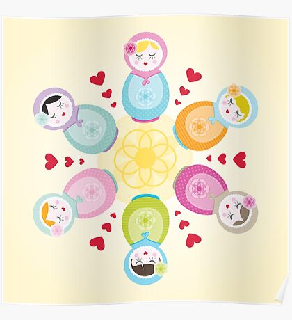 Russian Dolls - Mandala Poster