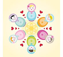 Russian Dolls - Mandala Photographic Print