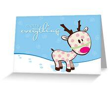 sweet little reindeer Greeting Card