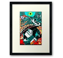 RUSH HOUR - Commuters - Modern Times series Framed Print