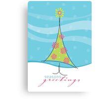 Christmas Card - sweet little tree Canvas Print