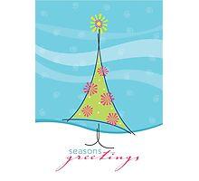 Christmas Card - sweet little tree Photographic Print