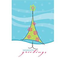 Christmas Card - sweet little tree Photographic Print