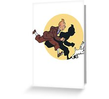 Tin tin & Snowy Greeting Card