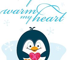 "PENGUIN ""you warm my heart"" by Kat Massard"