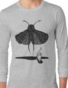 Mothman and a Cat Long Sleeve T-Shirt