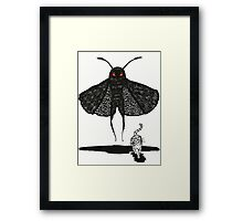 Mothman and a Cat Framed Print