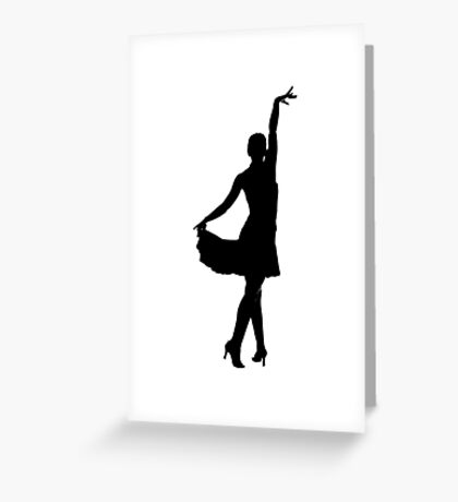 Latin dancer silhouette Greeting Card