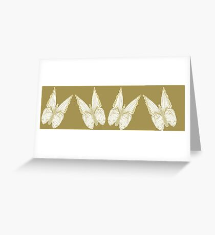 Golden Butterflies see also kazm gilded-butterfly Greeting Card