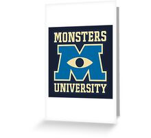Monster University Greeting Card
